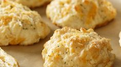 Ingredients 2 cups Reduced Fat Bisquick 3/4 cup fat-free buttermilk 1 cup fat-free cheddar cheese Topping: 2 tablespoons fat-free margarine 1/4 teaspoon parsley flakes 1 teaspoon garlic powder Instructions Mix the biscuit ingredients together. On a pan sprayed with cooking spray, make 12 drop biscuits. Or spray 12 muffin tins with cooking spray and divide […]