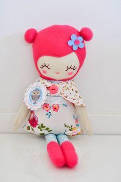 Love LuLu handmade plush doll made in Australia by nooshka on Etsy