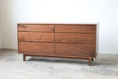 Hayward Dresser - Solid Walnut Six Drawer Bedroom Dresser