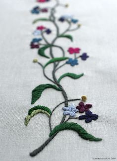 mini flower pattern, embroidery