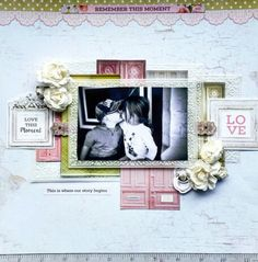 Kaisercraft : Cottage Rose Collection : Remember This Moment layout by Amanda Baldwin Scrapbooking Layouts, Scrapbook Pages, Picture Layouts, Baby Girl Cards, General Crafts, Rose Cottage, Page Design, Projects To Try, Card Making