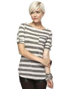 striped boatneck t-shirt.