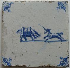 17th c. Delf tile 1650 Dutch