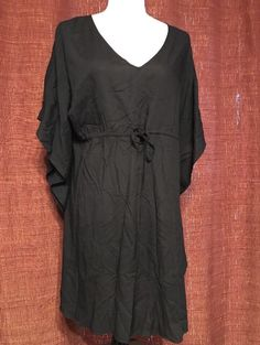 Soma Lounge Wear Sleep Shirt Long Sleeve Nightgown Pajama Large Purple Black #Soma #CoverUp $16.00 + $3.93 s/h