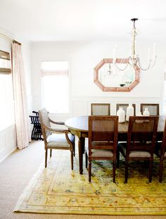 Vintage inspired dining room: http://www.stylemepretty.com/living/2015/08/21/family-home-tour-inspired-by-napa/ | Photography: Sabra Lattos - http://sabralattos.com/