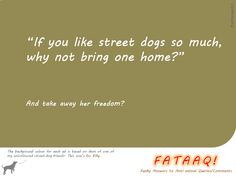 Ad 2 of self-created campaign in FATAAQ series, this time for street dogs...