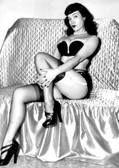 1950's Pin Up legend Betty Page became an icon to retro-loving pop culture ...