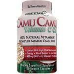 Greens Plus - CAMU CAMU Vitamin C Caps 120 Caps by Greens Plus. $26.99. Greens Plus - CAMU CAMU Vitamin C Caps 120 Caps. Greens Plus CAMU CAMU contain 100% Pure Camu Berry Fruit and Juice Powder from the Amazon. Camu Camu contains the highest concentration of natural Vitamin C, with 15% Ascorbic Acid and over 70 synergistic antioxidants, essential minerals and amino acids, including Calcium, Potassium, Phosphorus, Beta carotene, Alanine, Phenylalanine, Serine, and Ellagic, C... Vitamin C Powder, Natural Vitamin C, Beta Carotene, Amino Acids, 100 Pure, Wealth, Berry, Minerals, Juice