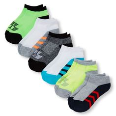 Boys Boys Place Sport Colorblock Ankle Socks 6-Pack - Multi - The Children's Place
