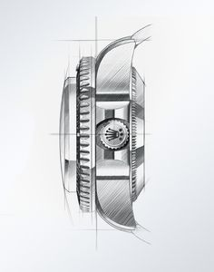 For nearly a century, Rolex has supported pioneering explorers. Find out how Rolex continues this legacy under the banner of Perpetual Planet. Sketch Design, Layout Design, Watch Drawing, Sea Dweller, Industrial Design Sketch, Sketch Inspiration, Drawing Reference Poses, Technical Drawing, Drawing Techniques
