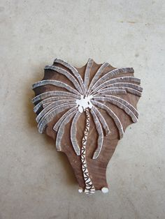 Palm Tree Block Print Hand Carved by QueenAndSwan on Etsy, $49.00