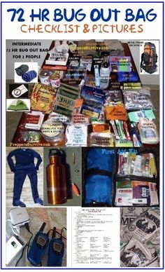 Bug Out Bag Printable Checklist & Pictures - Preppers Survive