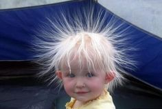 And I thought MY hair had static!
