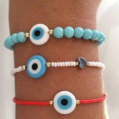 Bead Jewellery, Beaded Jewelry, Jewelery, Jewelry Bracelets, Handmade Jewelry, Beaded Necklace, Evil Eye Jewelry, Evil Eye Bracelet, Bracelet Making