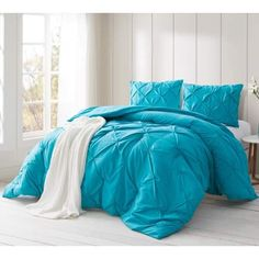 College Bedding Sets, College Comforter, Twin Xl Comforter, Ruffle Bedding, Teal Bedding, Dorm Furniture, Cheap Furniture, Furniture Movers, Funky Furniture