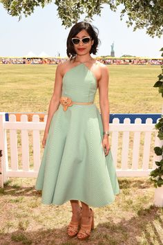 JERSEY CITY, NJ - MAY 30:  Freida Pinto attends the Eighth-Annual Veuve Clicquot Polo Classic at Liberty State Park on May 30, 2015 in Jersey City, New Jersey.  (Photo by Dimitrios Kambouris/Getty Images for Veuve Clicquot)  - HarpersBAZAAR.com