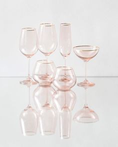So excited to introduce our NEW Bella 24k Gold Rimmed Glassware in BLUSH! Water Goblet, Wine Goblet, Champagne Coupe, Champagne Flute, Stemless Water, and Stemless Wine. Available in quantity for events late Summer/early Fall! #newcollection #cdpglassware