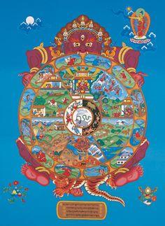 "The Wheel of Life (Bhavachakra) - painting by Peter ""Zotec"" Newman - www.artzotec.com"