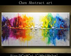 Abstract Wall Painting. Modern Landscape Painting by xiangwuchen