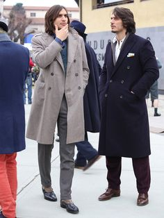 GLOBER | ダブルチェスターコート Brogues, Brogue Shoe, Double Breasted Suit, Style Me, Suit Jacket, Suits, Coat, Jackets, Fashion