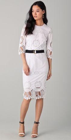 By Malene Birger Riyad Eyelet Midi Dress White Eyelet Dress, White Lace, Eyelet Lace, Malene Birger, Lace Skirt, Lace Dresses, Playing Dress Up, Fashion Outfits, Fashion Styles
