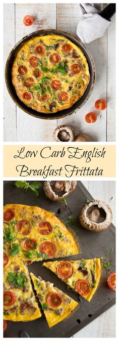 4 Points About Vintage And Standard Elizabethan Cooking Recipes! English Breakfast Almost All Wonderful Ingredients Of A True English Breakfast Rolled Into One Easy-To-Eat Dish. Make proper acquaintance With The English Breakfast Frittata. Healthy English Breakfast, Low Carb Breakfast, Healthy Breakfast Recipes, Brunch Recipes, Healthy Recipes, Brunch Ideas, Banting Recipes, Low Carb Recipes, Ketogenic Recipes