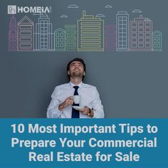 Even with this moderate comeback, it is difficult for commercial real estate owners to sell their properties. Read these helpful tips to Prepare for Commercial Real Estate for Sale. Investment Property, Rental Property, Commercial Real Estate Investing, Online Real Estate, Residential Real Estate, Property Management, Being A Landlord, Real Estate Marketing, Helpful Tips