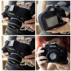 Amigurumi Reflex Camera - Get The Pattern, Make a Unique Gift! So cool! #etsy #amigurumi #giftideas #crochet