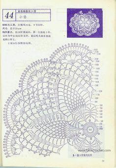 "Photo from album ""Interior crocheted"" on Free Crochet Doily Patterns, Crochet Doily Diagram, Crochet Circles, Crochet Mandala, Crochet Motif, Crochet Designs, Crochet Coaster, Crochet Books, Crochet Art"