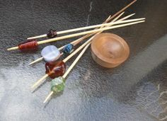 how to make a beaded support spindle