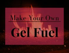 Gel fuel is an awesome compound that's really useful when combined with ventless fireplaces. It can be expensive, though, so learning how to make gel fuel can be handy. Fire Pit Table, Diy Fire Pit, Fire Pit Backyard, Gel Fireplace, Diy Outdoor Fireplace, How To Make Fire, What To Use, Fire Pots, Emergency Preparation