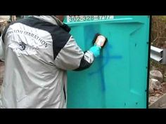 Tagaway® Graffiti Removal off of a Plastic Porta Potty. World's Best Graffiti Remover Tagaway. For more information go to http://www.shopetsonline.com/tagaway-p/cpcp-204505.htm . Tagaway for smooth and painted surfaces is used here to remove marker from frosted glass in a school office. Tagaway the world's best graffiti remover is available in quarts, gallons and pails. Get the world's elite graffiti remover today by going to http://www.shopetsonline.com/tagaway-p/cpcp-204505.htm
