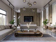 SHADES OF BEIGE on Behance Ali Project, Behance, Shades Of Beige, 3ds Max, Floor Design, Ground Floor, Living Room, Interior Design, Architecture
