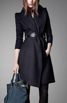 Long Cashmere Wool Coat