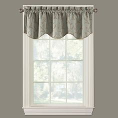 Dress your window in the charming, traditional style of the Kensett Scalloped Window Valance. It showcases gorgeous leaf and vine embroidery to add graceful beauty to your room décor. A scalloped bottom edge completes this classic look. Window Valance, Cottage Style, Windows, Beach Cottage Style, Drapes Curtains, Curtains, Bedding Shop, Room Decor, Bed Bath And Beyond