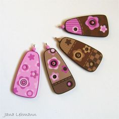 Patterned Pendants - Patchwork Flowers by feeliz, via Flickr