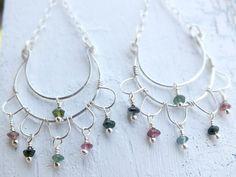Sterling silver chandelier earrings - by BirdandBeed https://www.etsy.com/shop/BirdandBeed?ref=si_shop