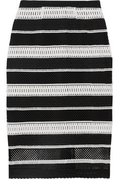 Striped guipure lace midi skirt | REBECCA VALLANCE | Sale up to 70% off | THE OUTNET