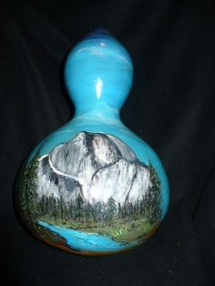 Yosemite Half Dome A Painted Gourd by WendyFloresArt on Etsy