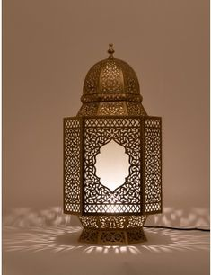 Huge range of Moroccan floor lamp, with electric lamps and candle lanterns to choose from in metal and glass styles and finishes, we have something exotic for everyone. Moroccan Floor Lamp, Moroccan Lighting, Moroccan Lanterns, Floor Lanterns, Table Lanterns, Antique Brass Floor Lamp, Front Door Design Wood, Floor Standing Lamps, Candle Stand
