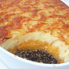 Haggis Pie with Tatties and Neeps and Whisky Sauce