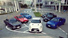 A lounge of Godzilla's Nissan R35 GT-R, Nissan Skyline R34, Nissan GTR, Nissan Gtr R32, Nissan GTR R35