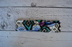 Magenta Turquoise Ethnic Ikat Thick or Thin Turban Style Headband for Women