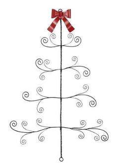 Twisted Metal / Wire Christmas Tree Card Photo Holder Wall Decor By GZ,  Http: