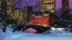 Christmas Landscapes | Free Download HD New York Christmas Landscape Wallpaper 1024x768 ...