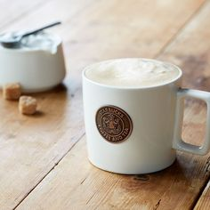 An iconic ceramic mug with our original Siren logo and a cool rectangular handle.