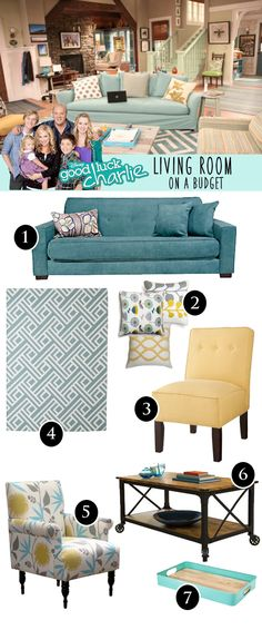 I love the Good Luck Charlie living room! How to get the look on a budget :)