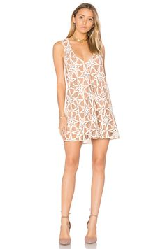 For Love & Lemons Metz Mini Dress in Latte | REVOLVE