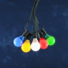LED Partylichterkette, bunte LED-Birnen