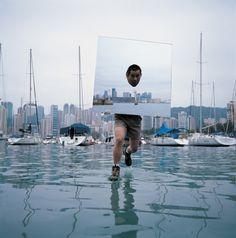 LI Wei, Mirror. Hong-Kong, 2006  69 5/16 x 69 5/16 inches, 176 x 176 cm, Ed. 2/8 39 3/8 x 39 3/8 inches, 100 x 100 cm, Ed. 6 c-print mounted on plexiglass